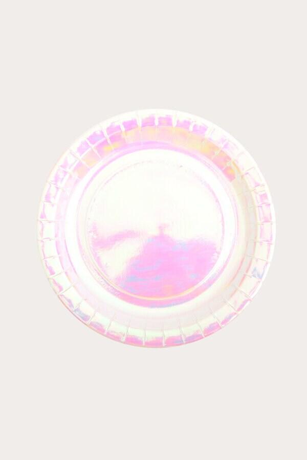 iridescent paper plates